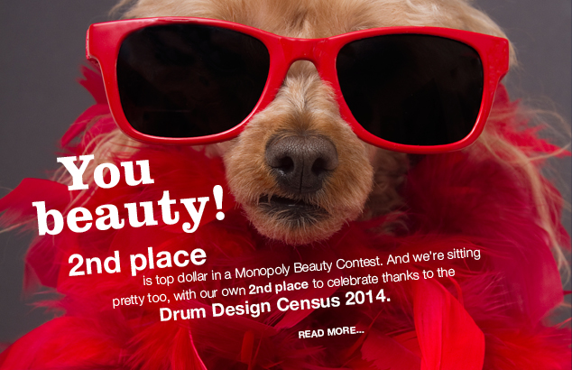 Home rocks! No.2 in Drum Design Census 2014 : Image of dog in red glasses